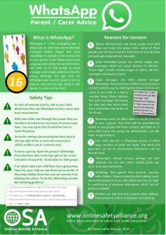 OSA WhatsApp info sheet